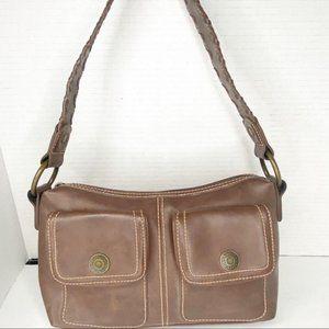Levi's Y2K brown vegan leather mini shoulder bag